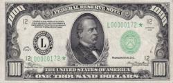 Billete de 1000 Dólares
