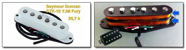 Pastillas de Doble Bobinado Superpuesto Stack Seymour Duncan YJM Fury STK-10