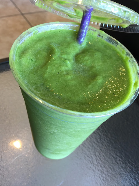 Greedy Greens smoothie at Jiggle Berry Juice Bar in Amarillo