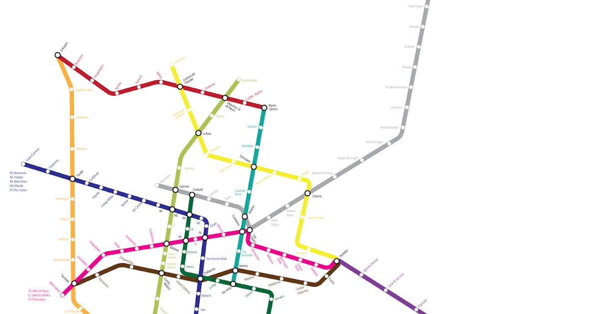 íconos Del Metro: Ciudad De México: Mapa Simplificado