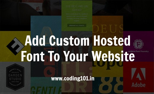 Add Custom Hosted Font To Your Website