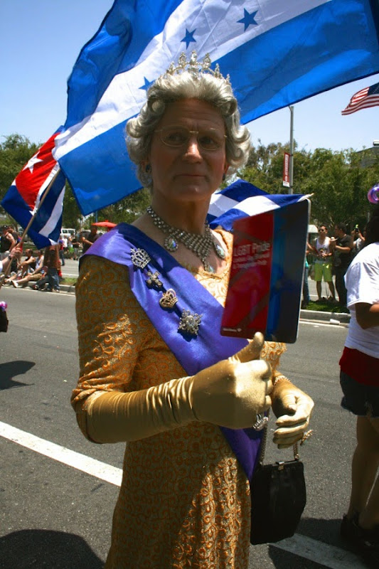 British Queen drag West Hollywood Pride Parade 2014