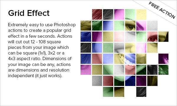 Free Grid Effect Photoshop Action