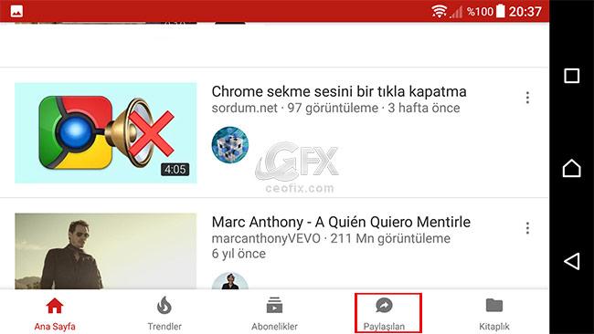 YouTube'da paylaşım