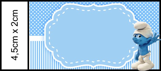Smurfs Free Printable Candy Bar Labels For Boys Party