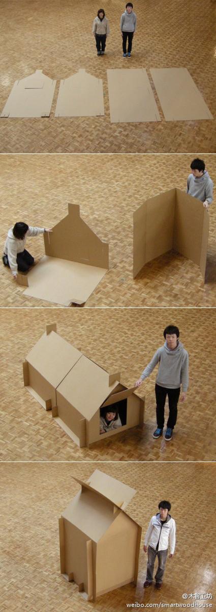Como hacerle a los niños una Casita de Carton