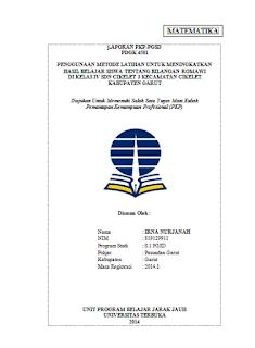 Lapoaran PKP FKIP-UT Lengkap dengan Lampiran-lampiran