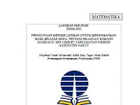Laporan PKP FKIP-UT Lengkap dengan Lampiran-lampiran