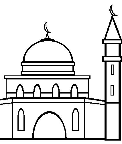 Gambar Masjid Hitam Putih Mudah Nusagates