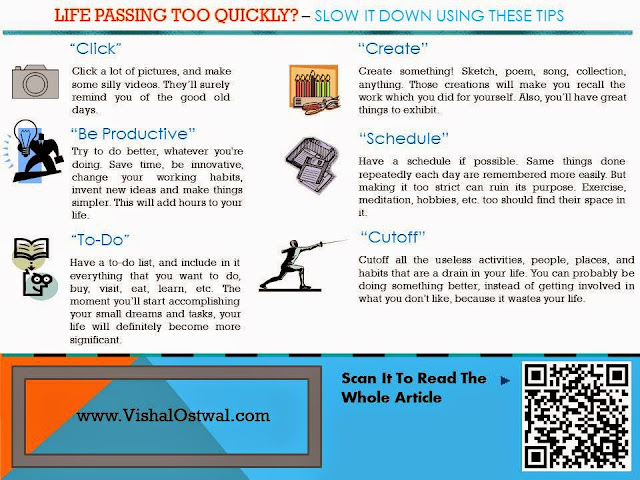 Life passing quickly Infographic - Vishal Ostwal