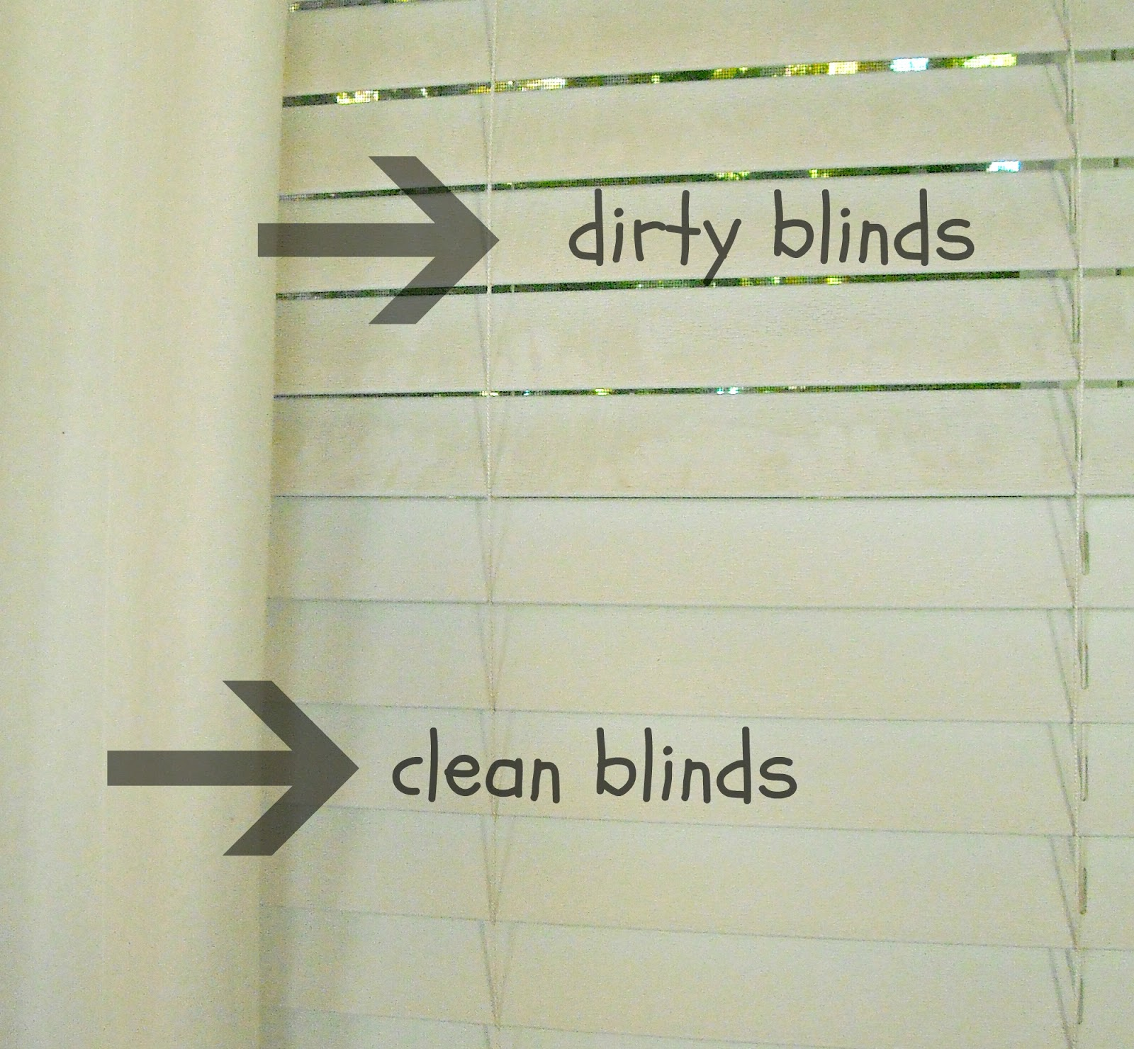 The Result Is Beautiful Cleaning Blinds