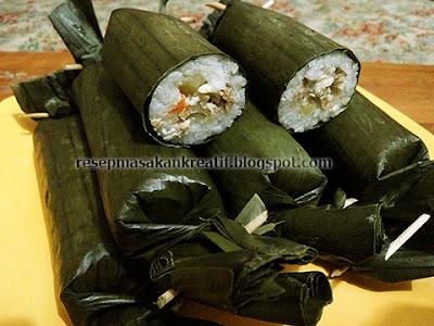 Resep Lontong Isi Ayam & Sayuran Arem Arem