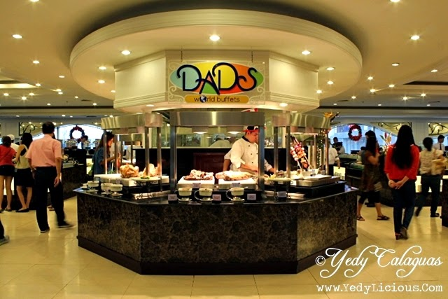 Dads World Buffet has branches at Sm Megamall, West Ave.,Glorietta 3 Ayala Center, Manila, and EDSA