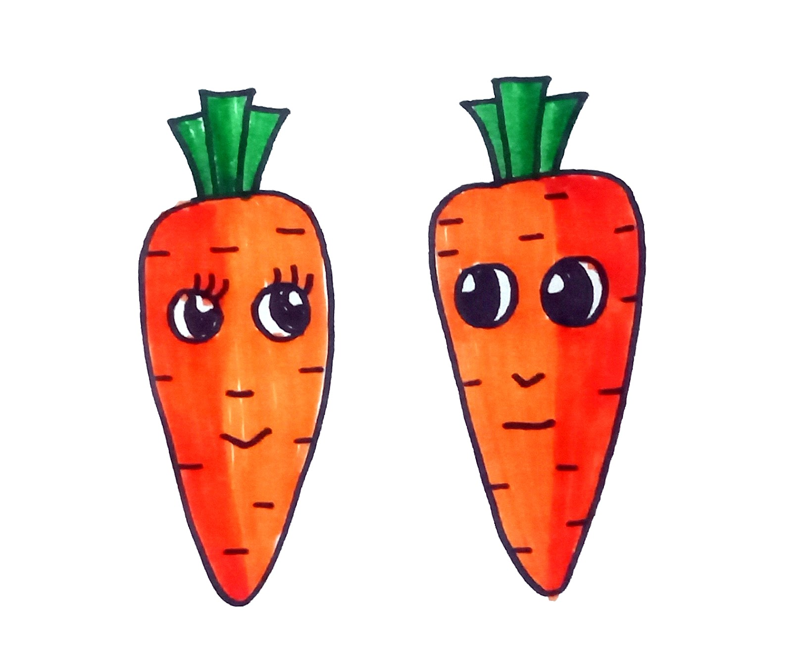 How To Draw A Cute Carrot For Kid Drawingsforkids Net