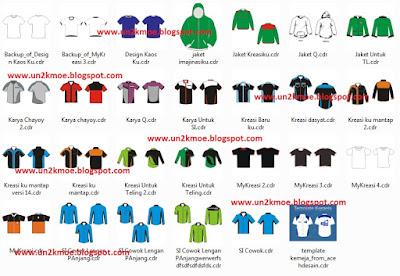 Kumpulan Desain Baju Kaos Jaket CDR | Download Template Baju Coreldraw X4 Gratis