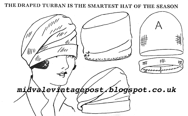 The Vintage Pattern Files: Free 1920's Sewing Pattern - Draped Turban