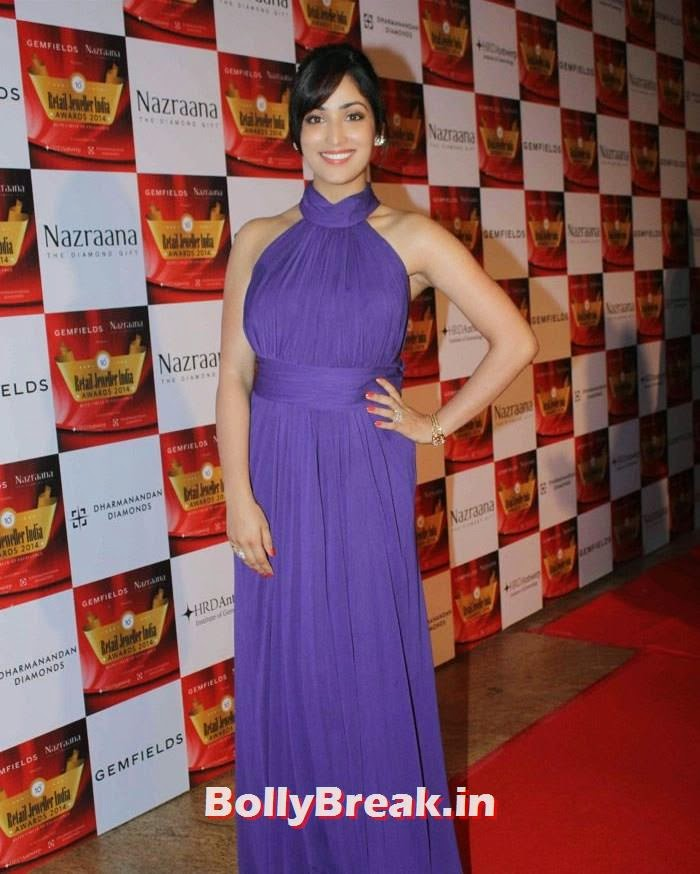 Yami Gautam, Pics of Celebs in Sexy Dresses & Gowns at Gemfields & Nazraana Retail Jeweller India Awards 2014