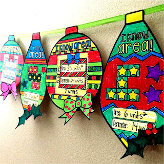 area and perimeter math ornaments