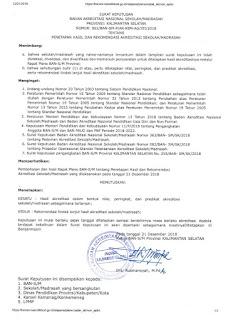 Pengumuman Hasil Akreditasi Kalimantan Selatan Tahap 3 Kemenag