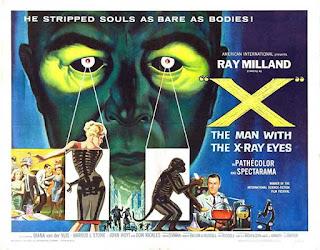 El hombre con rayos x en los ojos / Poster Original