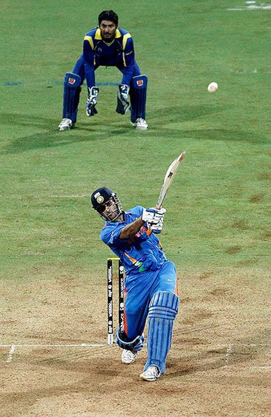 Victory Shot at the World Cup final of Cricket at Wankhede ...