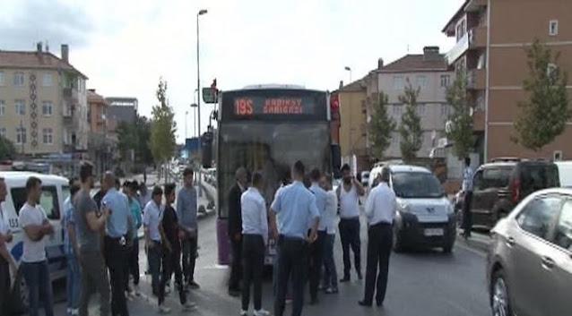 Yenidoğan da halk otobüsüne silahlı saldırı