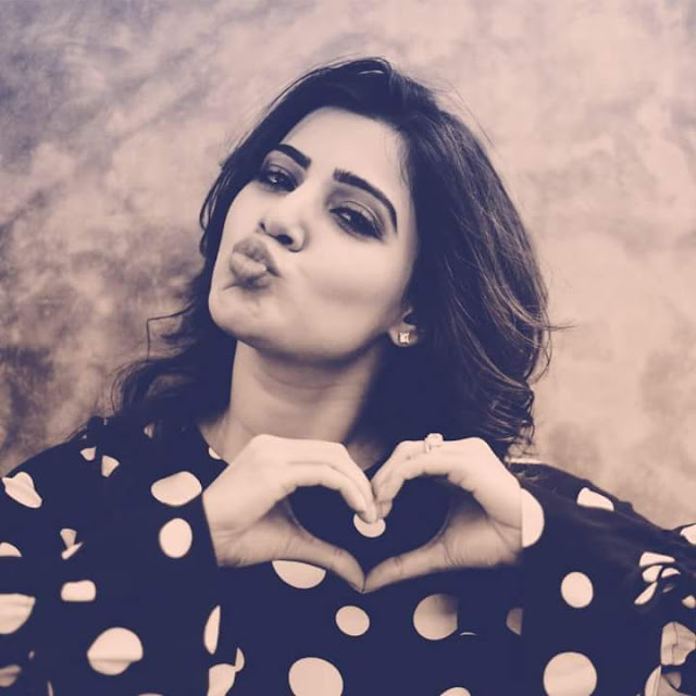 Samantha Cute Latest Photoshoot Pout kiss pic