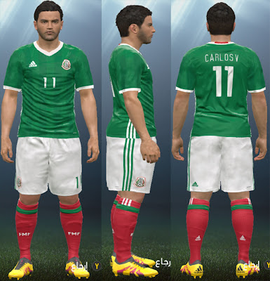 Mexico 2016 Copa America Home Kit