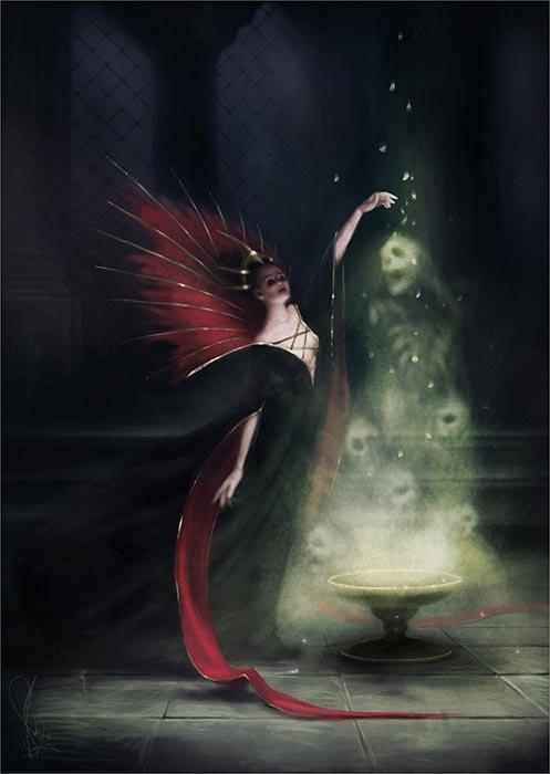Melanie Delon  deviantart ilustrações mulheres fantasia romantismo classicismo
