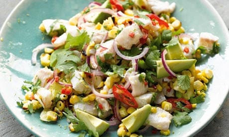 Smoky corn and avocado ceviche - Yotam Ottolenghi