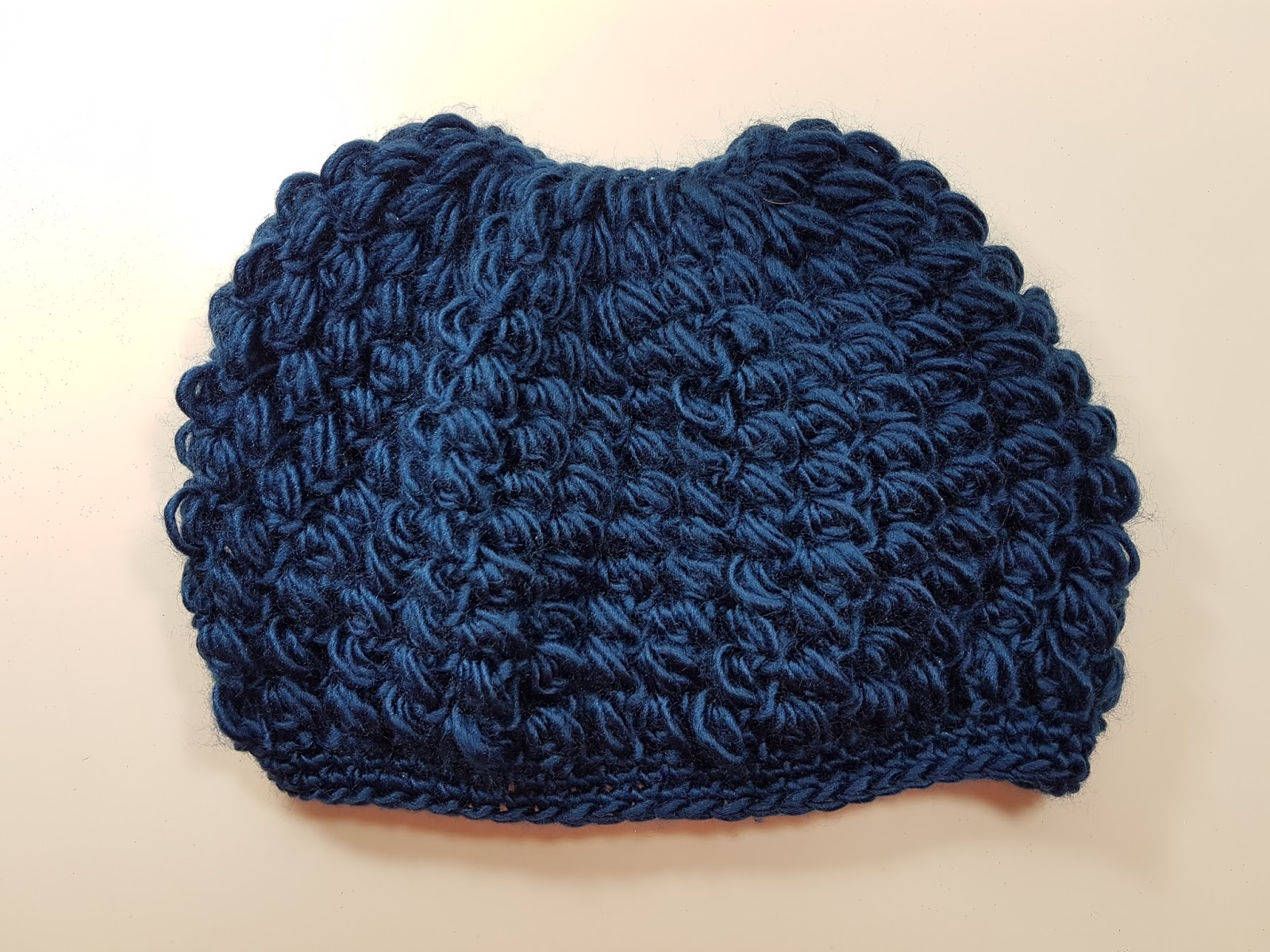 a460dbbe3d5 Here is an easy puff stitch messy bun hat for everyone to try and share  )  I made it out of a lion heart brand yarn