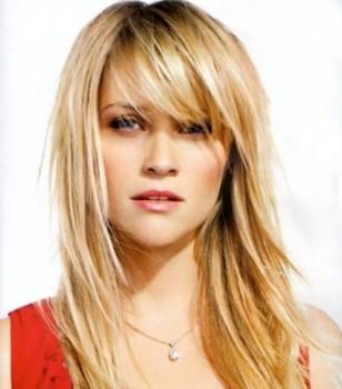 Model rambut wanita berponi sebahu