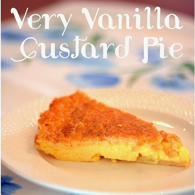 Yummy Recipe for Very Vanilla Custard Pie