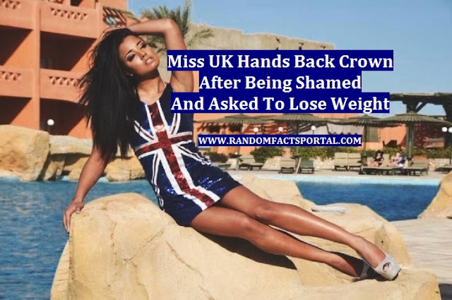 Miss UK Hands Back Crown After Being Shamed And Asked To Lose Weight