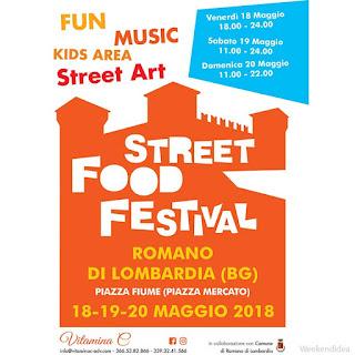 Street Food Festival 18-19-20 maggio Romano di Lombardia (BG)