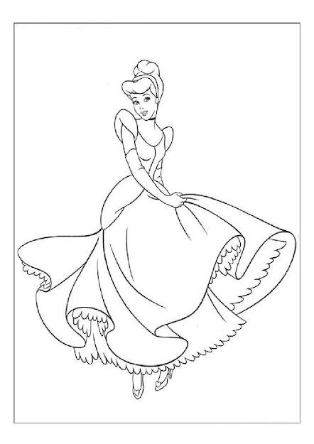 Cinderella Color Page Disney Princess