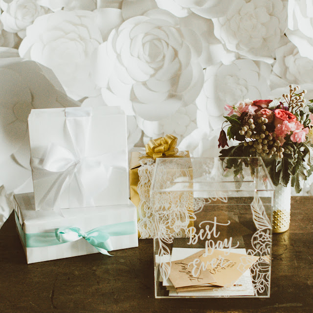 pretty bohemian wedding decor inspiration | hand lettering on wishing well