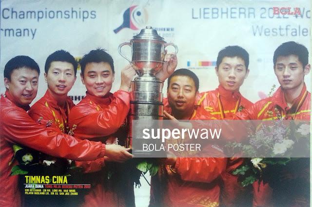 Poster Timnas Tenis Meja Beregu Putra Cina