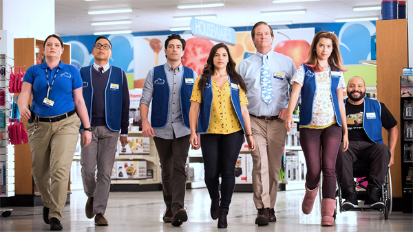 promotional image featuring some of the primary cast members of Superstore