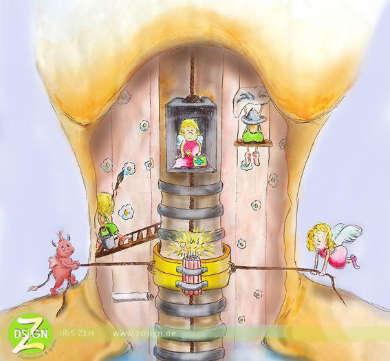 illustrative-Darstellung-der-Schilddrüsenerkrankung-Hashimoto
