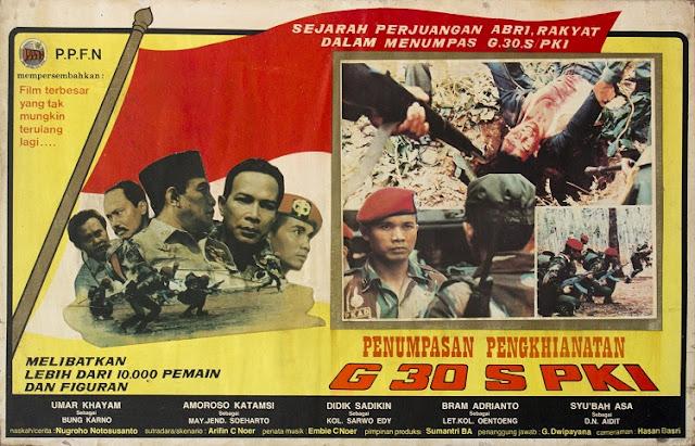 Poster Film Penumpasan Pengkhianatan G 30 S PKI  dirilis oleh PPFN (1984)