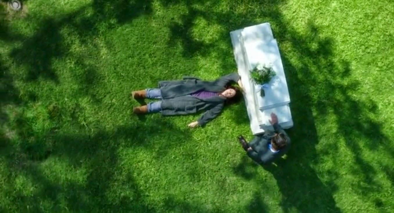Scandal Mellie y Fitz en el cementerio