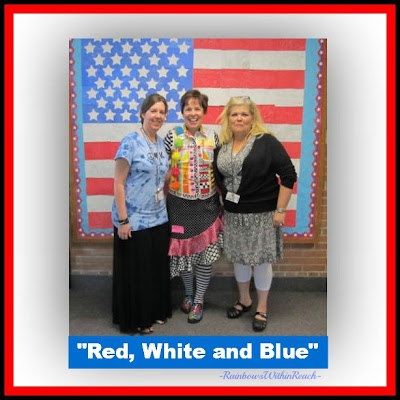 "photo of: ""Red, White and Blue"" Collaborative Quilt at RainbowsWithinReach"