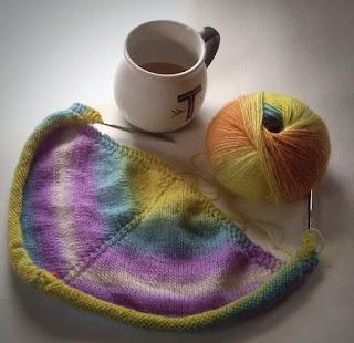 Sunapee Shawl, Knit Picks Chroma fingering, knitdesigns by tian