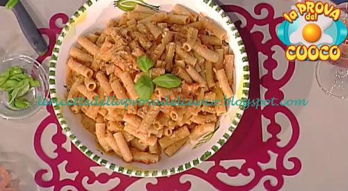 Tortiglioni integrali con pesto alla trapanese ricetta Bianchi da Prova del Cuoco