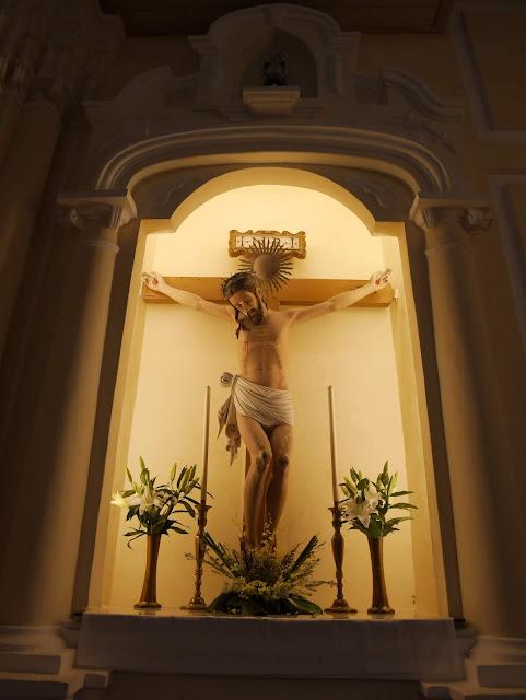 crucifix inside St. Dominic's Church