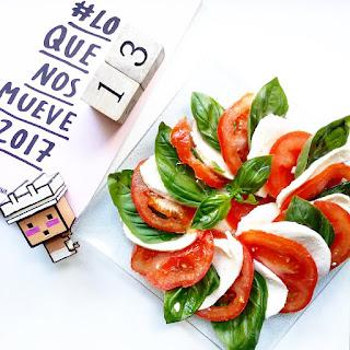 Caprese   Mozarela, albahaca, tomate y aceite de oliva.