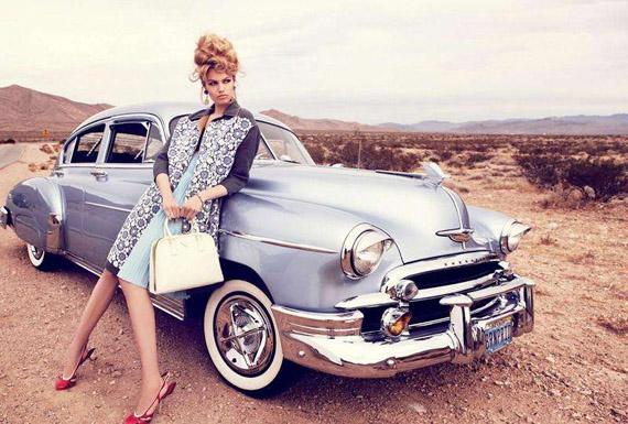 vintage cars, retro style, editorial photo