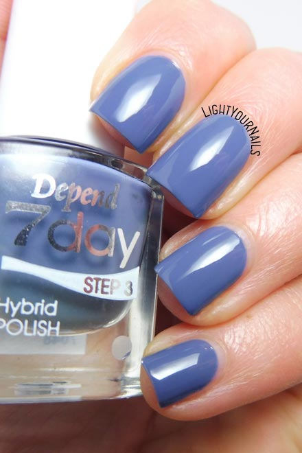 Smalto blu grigio Depend 7 Day n. 7048 In Harmony blue grey nail polish #depend #nails #unghie #lightyournails