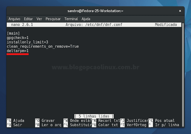 Habilitando o delta RPM no Fedora 25 Workstation